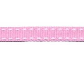 Grosgrain Roze-Wit 10 mm