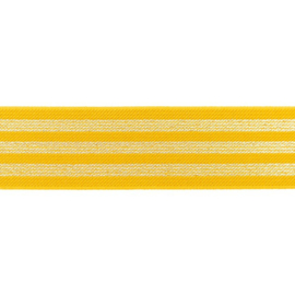 elastiek oker goud lurex 40 mm