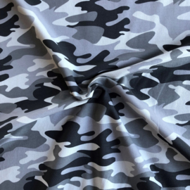 French Terry Brushed Camouflage Grey