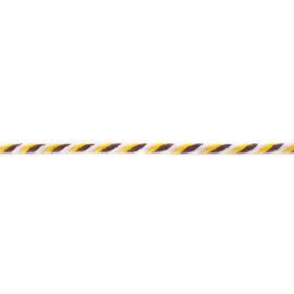 gedraaid koord 6 mm geel - wit - choco