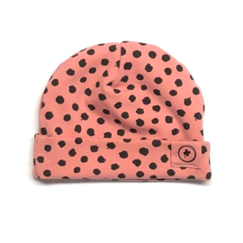 babymutsje old rose dots