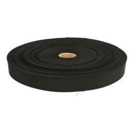 Zwart Elastiek Stevig 25 mm
