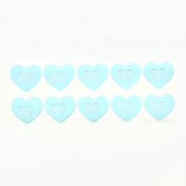 Maatlabels hartje babyblauw