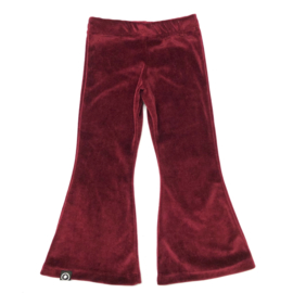 flared pants nicky velours bordeaux