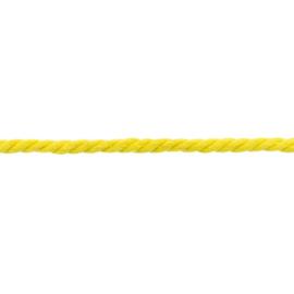 gedraaid koord 8 mm geel