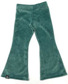 flared pants nicky velours dark dusty mint