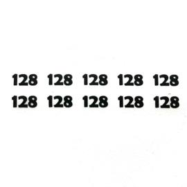 Maatlabels cijfers zwart