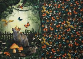 paneel vos in het bos