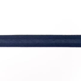 katoen biasband  donkerblauw