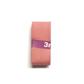 Katoen Biaisband 30 mm Oud Roze 3 meter