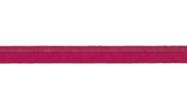 elastisch paspelband fuchsia