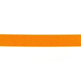 Glitterelastiek 25 mm oranje