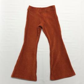 Flared Pants Ribfluweel Roest