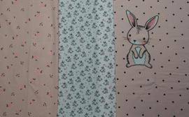paneel lief konijntje roze