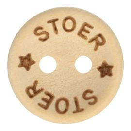 Houten Knoop Stoer 15 mm