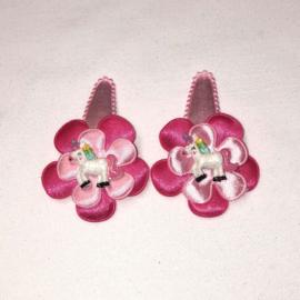 setje roze- fuchsia - unicorn