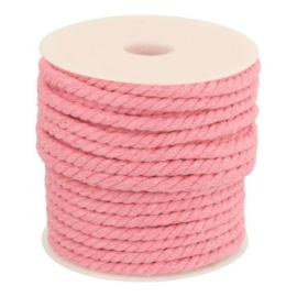 Gedraaid Koord 6 mm Roze