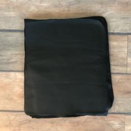 zwart leer 44 x 37 cm