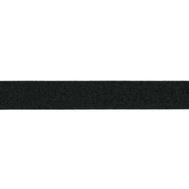 giltterelastiek 25 mm zwart