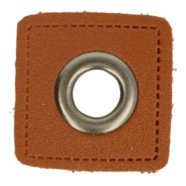 Nestels Bruin Skai Vierkant 8 mm