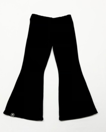 flared pants nicky velours zwart
