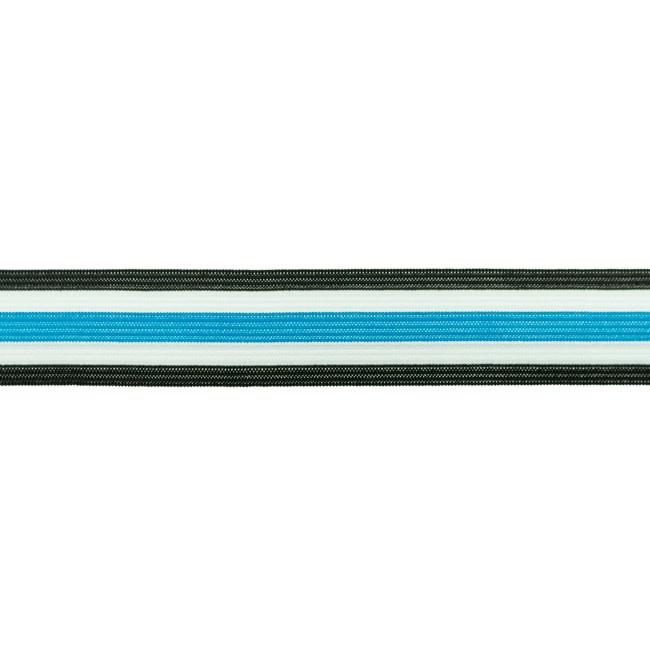 broekstreep elastiek aqua 30 mm