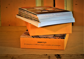 Briefkaarten + enveloppen (20) : Bibilotheek
