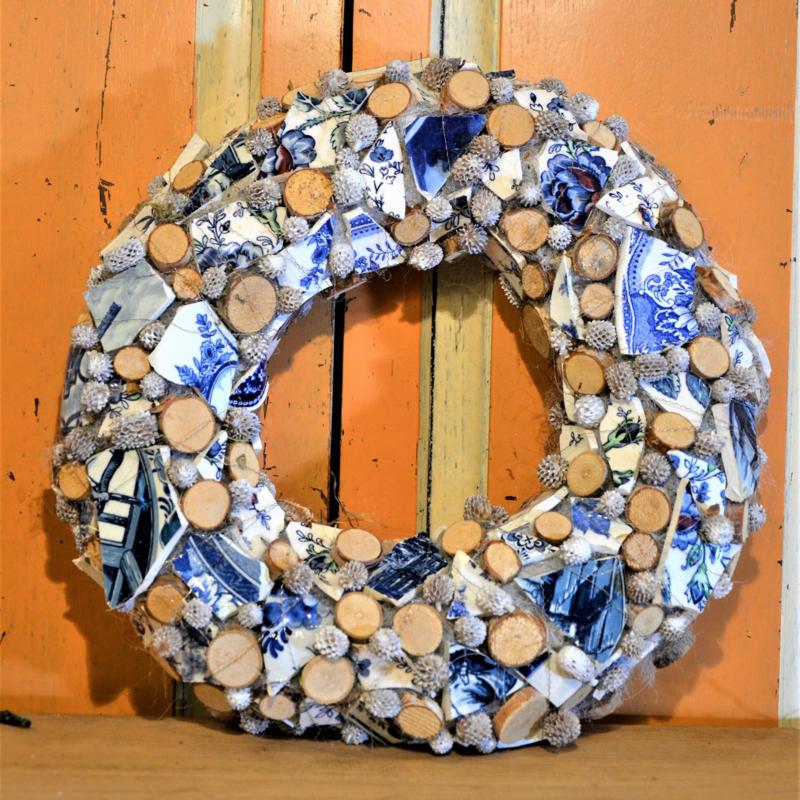 Delfts blauw houtschijfjes