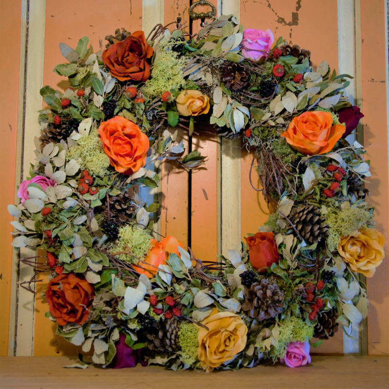 Krans oranje rozen