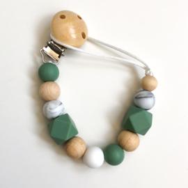 Speenkoord   Groen, wit, hout
