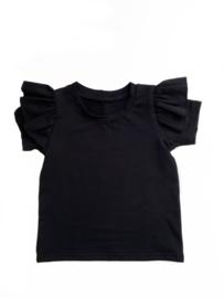 T-shirt   Ruffle zwart
