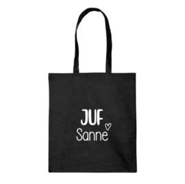 Katoenen tas   Juf met naam.