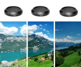 PRO-mounts 3-Filter Pack for Mavic Air (ND8 + ND16 + ND32 standard)