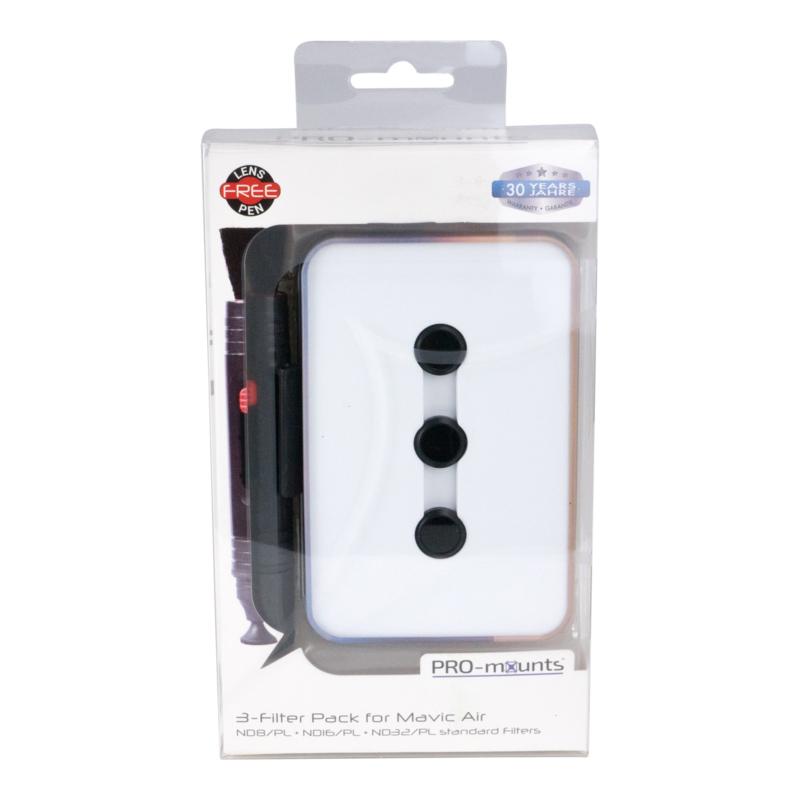 PRO-mounts 3-Filter Pack for Mavic Air (ND8/PL + ND16/PL + ND32/PL standard)