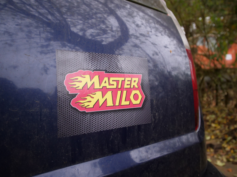 Mastermilo sticker carbon  1 stuk