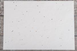 A4 papier met tuinkruiden zaadjes