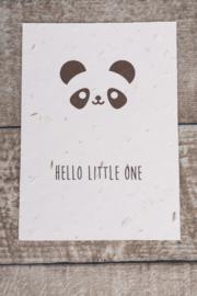 Kaartje: little panda