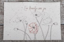 Een bloemetje voor jou klaproos