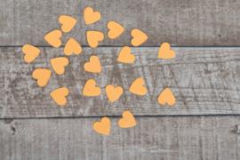 Uitdeelzakje confetti 10 stuks hartjes geel