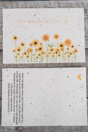 Een bloemetje voor jou (oranje)