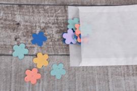 Uitdeelzakje confetti 10 stuks bloemetjes