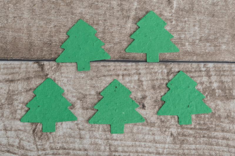 Losse confetti kerstboom