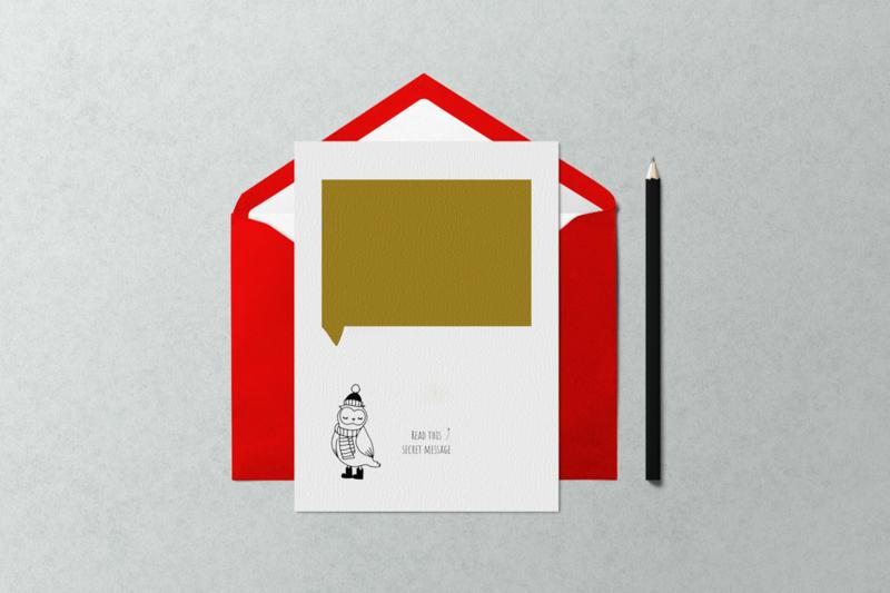 DIY kraskaartje: uil