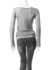 Intropia Grijs gemêleerd Shirt