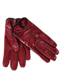Intropia Wijnrode Leren Handschoenen