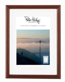 Peter Hadley Fotolijst Rondo donker bruin 10x15cm