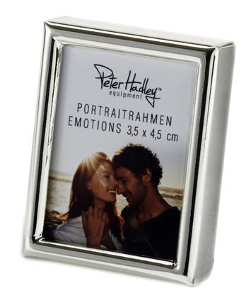 Peter Hadley Fotolijst Emotions pasfotolijst zilver glans 3,5x4,5cm