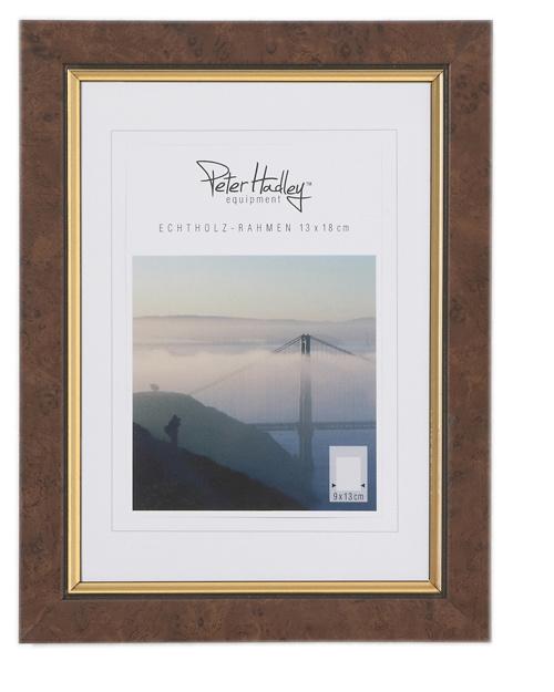 Peter Hadley Fotolijst Marlene Wortelnotenhout goud 13x18cm