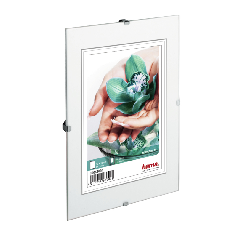 Hama Fotolijst Randloos helder glas 10x15cm