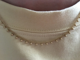 Essentialistics ketting - dots gold